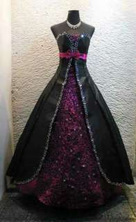 for rent Ball Gown - BLACK & VIOLET w/o petticoat