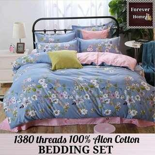 Forever Home床上用品直銷, $120起購買全新升級蘆薈棉1380針床單寢具套裝, 一套包括(床笠, 被套, 枕套) - 款式N13
