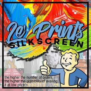 Good Quality Silk Screen Rubberized Tshirt Print