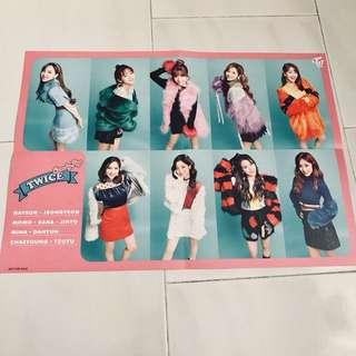 Twice Candy Pop HMV Folded Poster