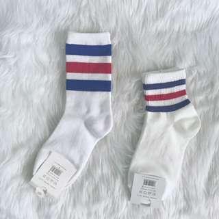 Korean 90s Striped socks