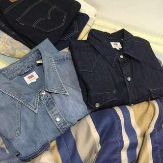 🚚 Levis 牛仔襯衫 L 八成新 原色&刷色