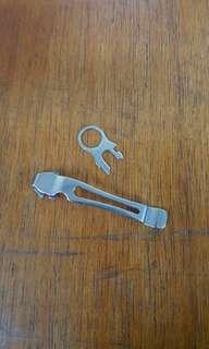 Leatherman lanyard ring & pocket clip