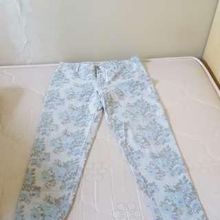 Flower Pattern Jeans