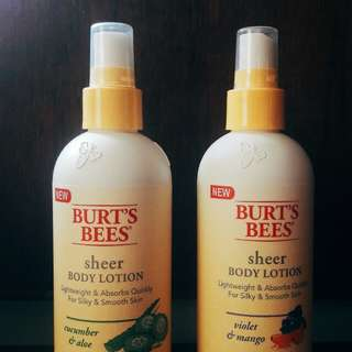 (7) Burt's Bees Sheer Lotion ( spray lotion )