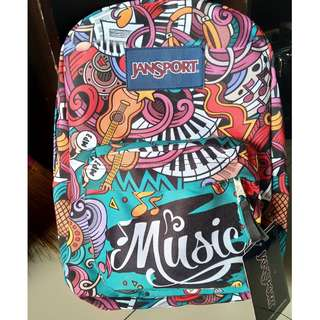 music backpack authentic jansport
