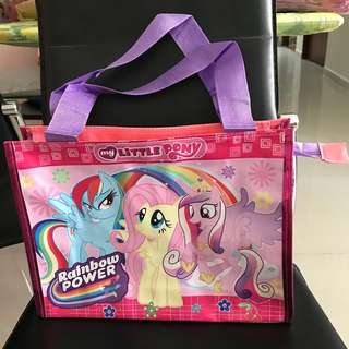 Brand new goodie bag my little pony & frozen shoulder tote bag - lot of 22pcs
