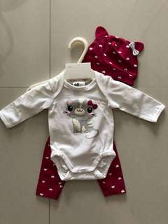 H&M 3pcs Jersey Baby Set
