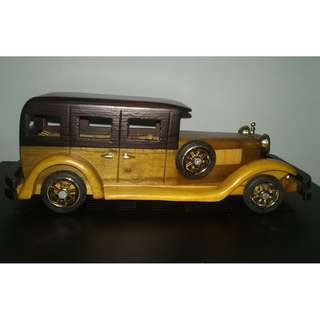 Vintage Car Model Wooden 30 cm length #3