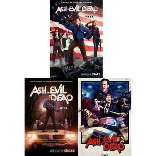 ASH VS EVIL DEAD TV POSTERS