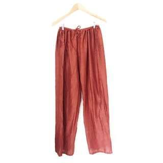 Rust Wide Leg Pants
