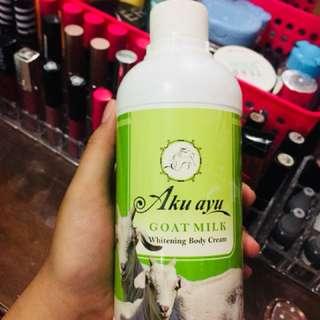 Whitening body cream goat milk