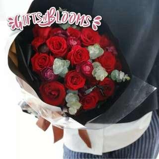 Special Love Bouquet Hers Fresh Flower V3 - GUZJY