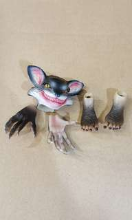 1/6 scale cat head with hands and feet