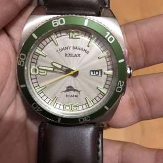 Tomy bahamas leather watch