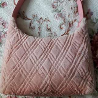 PINK Chinchilla handbag
