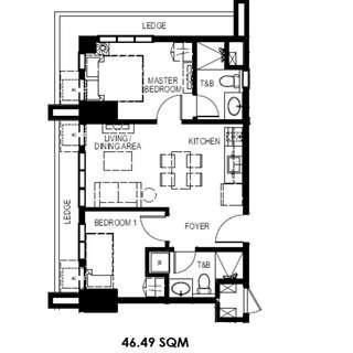 46.49sqm unit - condo for sale, Resort type condo