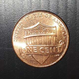 Old Coin Collection : 2011 Lincoln Shield One Cents Copper Plated Zinc Penny