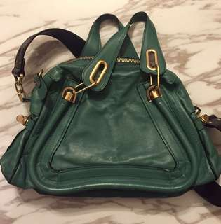 Green Chloe Paraty two ways handbag