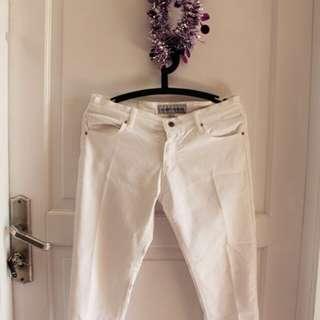 White jeans/celana jeans putih 3/4