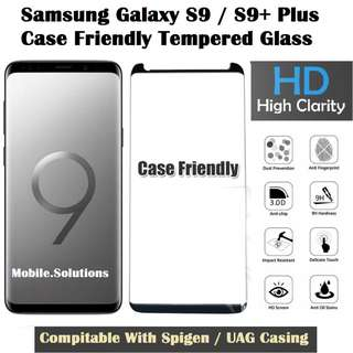 Samsung S9 / S9+ Plus Full Tempered Glass Case Friendly