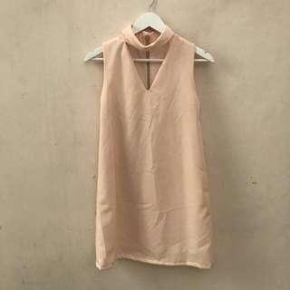 V Peach Dress