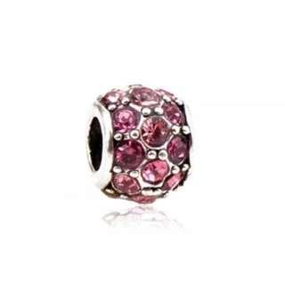 Pink Bead Charm