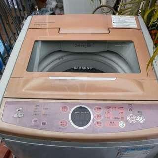 Samsung鑽石桶洗衣機二手七成新操作正常6kg高水位高32寸闊21寸深23寸1級能源