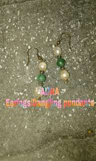AURA earrings/danggling pendant