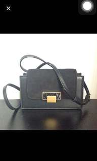 Charles & keith marble black sling bag