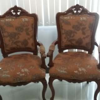 2 narra chairs