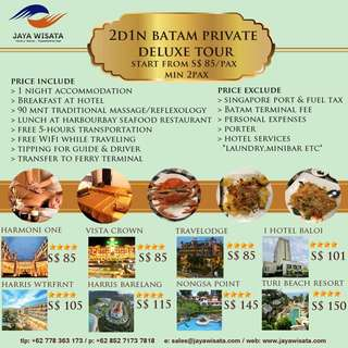 2D1N Batam Private Deluxe Tour