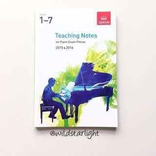ABRSM GRADE 1 - 7 PIANO PRACTICAL EXAM PIECES TEACHING NOTES