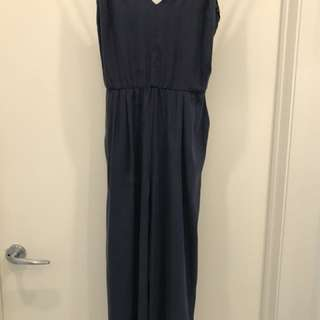 Zara navy jumpsuit small worn twice