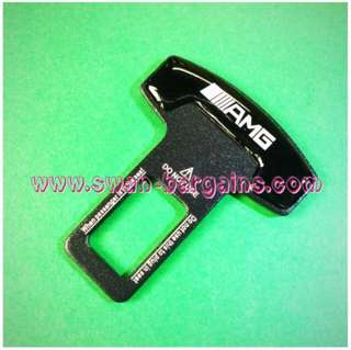 Universal Car Safety Belt Buckle Key Clasp Clip With 3D Reflective AMG Logo