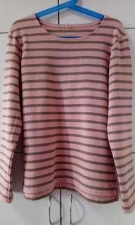 BN Pink Striped Blouse