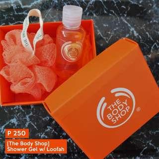[ The Body Shop ] Shower Gel with bath loofah