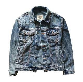 Jaket Jeans Denim - Blue Sanwash Denim