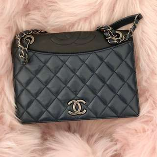 Chanel two tone chained bag