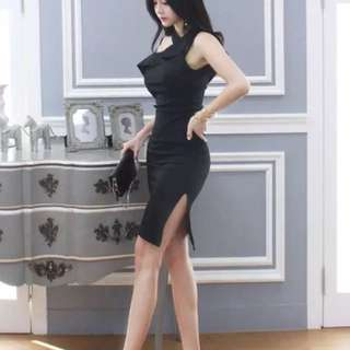 Black office lady dress