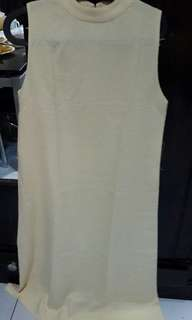 Dress yellow bahan halus fit to L