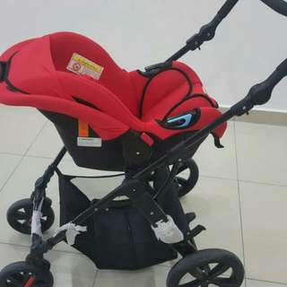 Sweet Cherry Travel System Stroller GL500 [RED] -Used 80% Like new