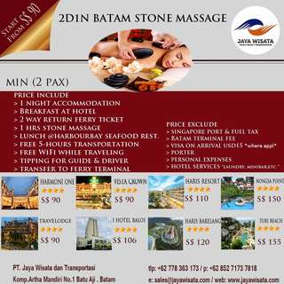 2D1N Batam Stone Massage Relaxation