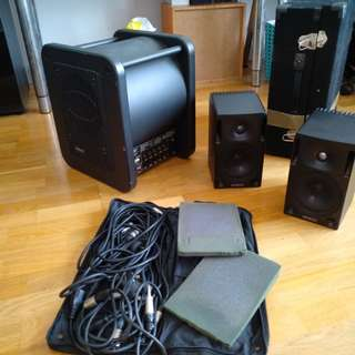 Genelec Studio Monitor speakers and subwoofer set