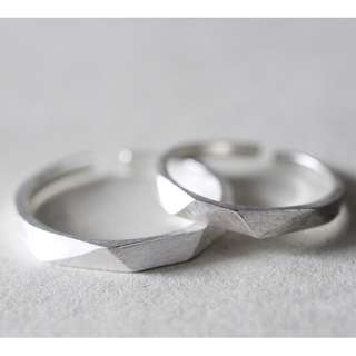 Couple Ring - V (Frosted Ring)