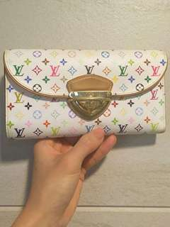 Authentic Louis Vuitton LV Eugenie Litchi multicolour blanc wallet 銀包