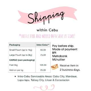 Shipping within Cebu