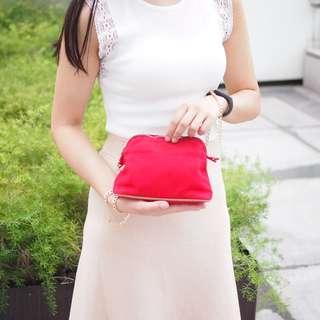 💥HERMES 紅色CLUTCH BAG 💕
