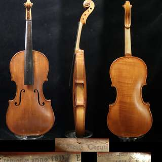 Old violin labeled Ceruti Cremonae 1811