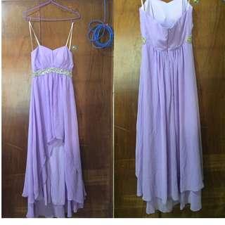 Custtomized Purple Cocktail Dress